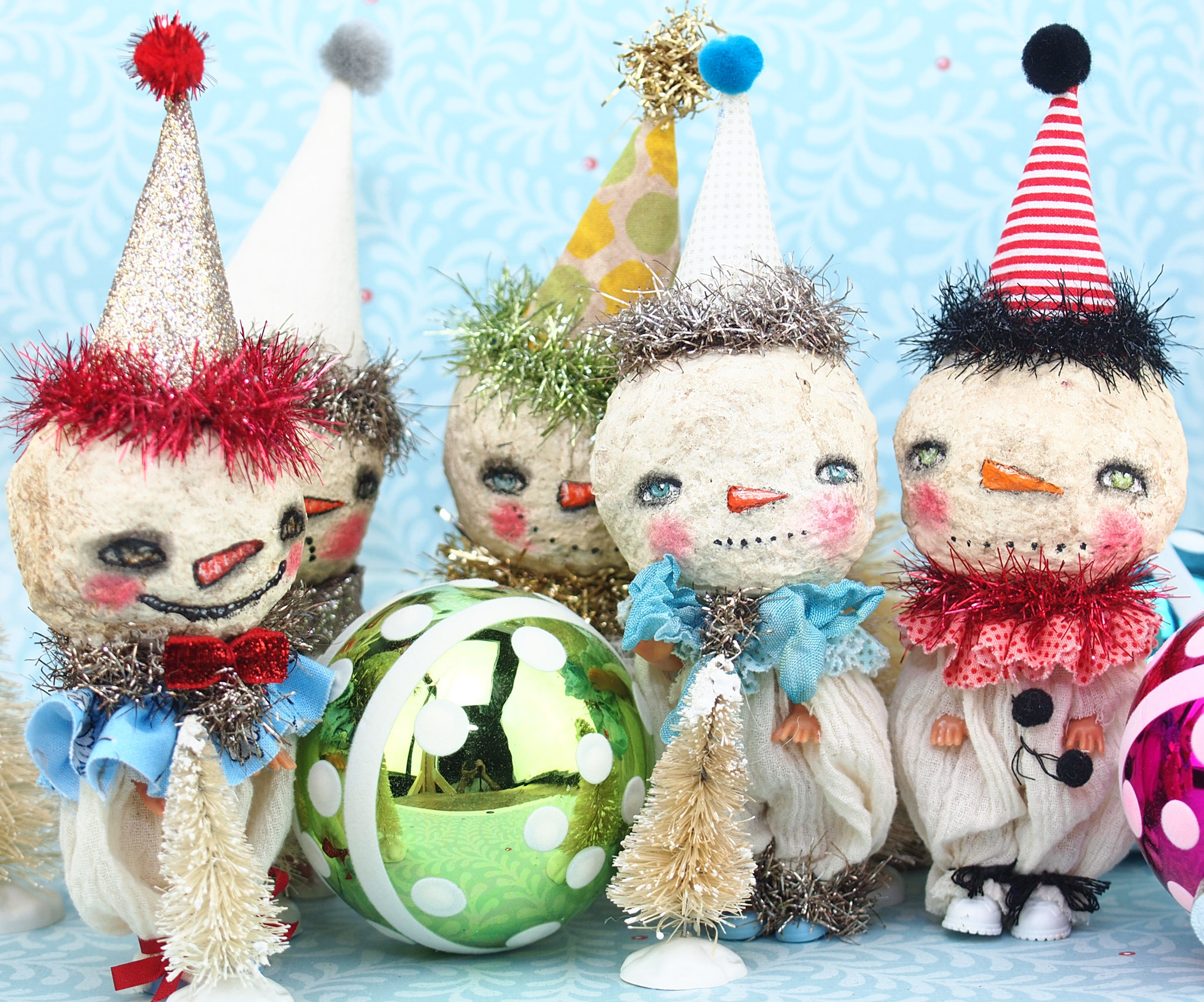 Beautiful handmade art dolls created by the talented hands of mixed media artist, Danita Art