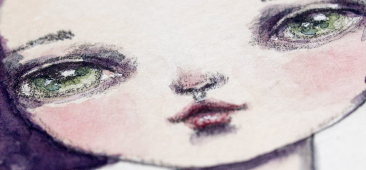 Up close and personal with my watercolor paintings
